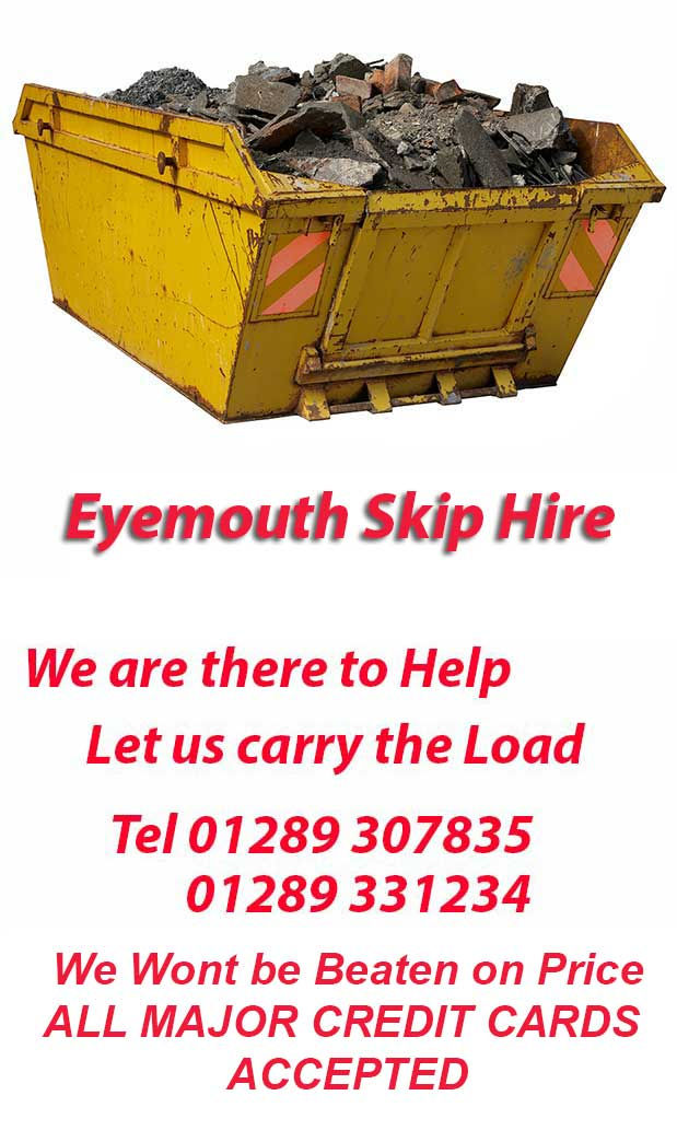 Eyemouth Skip Hire TD3 Postcode area contact